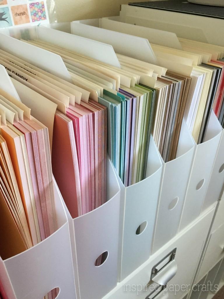 Craft room organization inspired paper craftsinspired for Craft room paper storage