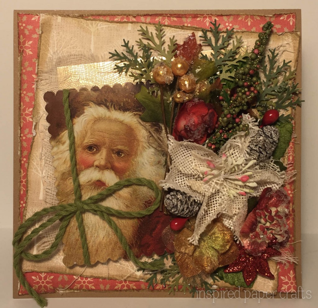 Vintage santa christmas card crafts close to my heart for Santa cards pinterest