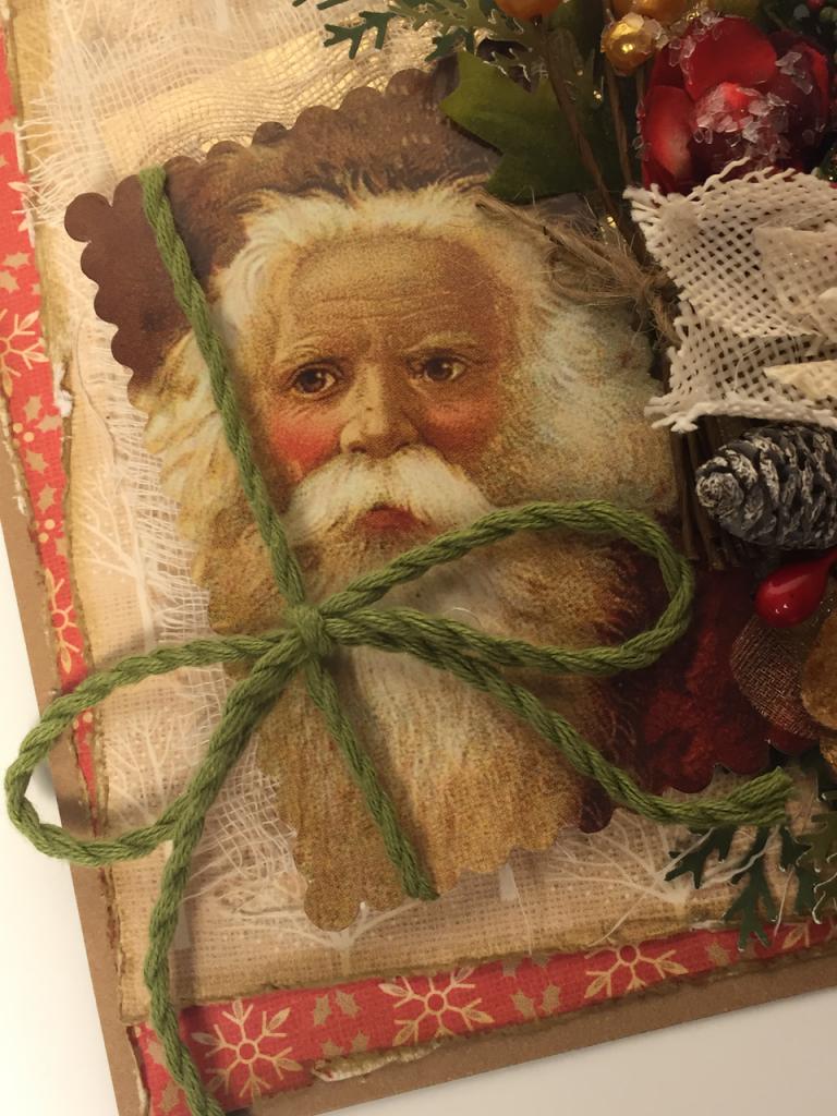 Vintage Santa Christmas Card - 1 (3)