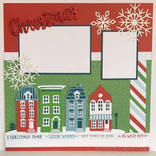 City Sidewalks Christmas Layout Inspired Paper CraftsInspired – Christmas Card Layout