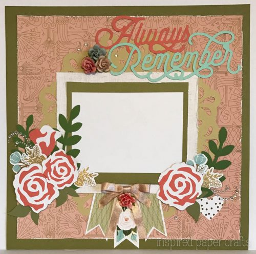 #CTMH Hello Lovely - Always Remeber Scrapbook Layout - Inspired Paper Crafts - Watermarked