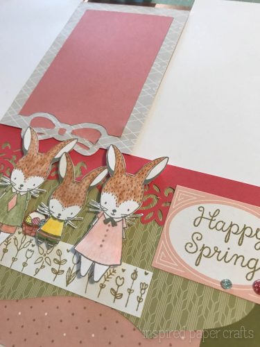 #CTMH Hello Lovely -Happy Spring Scrapbook Layout - Inspired Paper Crafts - Watermarked-13