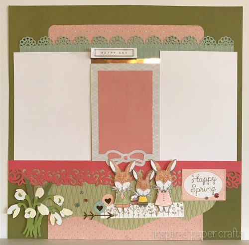 #CTMH Hello Lovely -Happy Spring Scrapbook Layout - Inspired Paper Crafts - Watermarked-3
