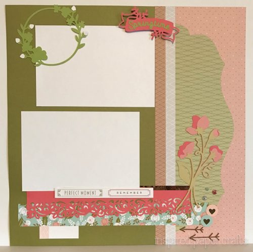 #CTMH Hello Lovely -Happy Spring Scrapbook Layout - Inspired Paper Crafts - Watermarked-4