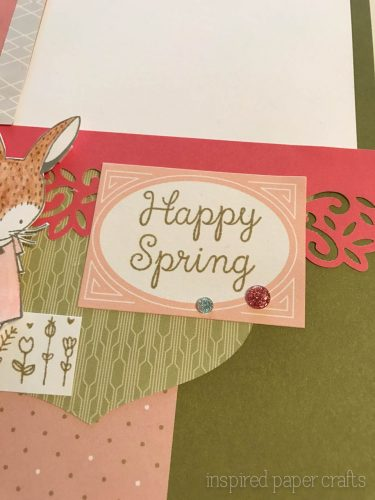 #CTMH Hello Lovely -Happy Spring Scrapbook Layout - Inspired Paper Crafts - Watermarked-8