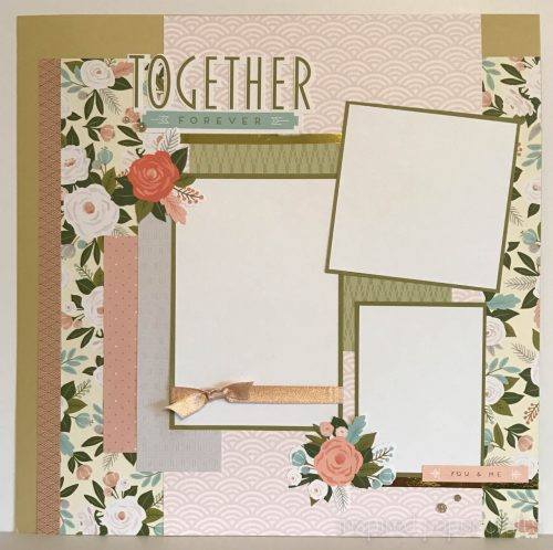 #CTMH Hello Lovely - Together Forever Scrapbook Layout - Inspired Paper Crafts - Watermarked-2
