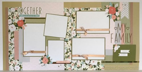 #CTMH Hello Lovely - Together Forever Scrapbook Layout - Inspired Paper Crafts - Watermarked