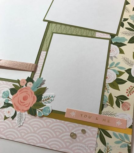 #CTMH Hello Lovely - Together Forever Scrapbook Layout - Inspired Paper Crafts - Watermarked-6