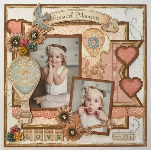 #CTMH Hello Lovely - Treasured Moments Layout - Inspired Paper Crafts - Watermarked