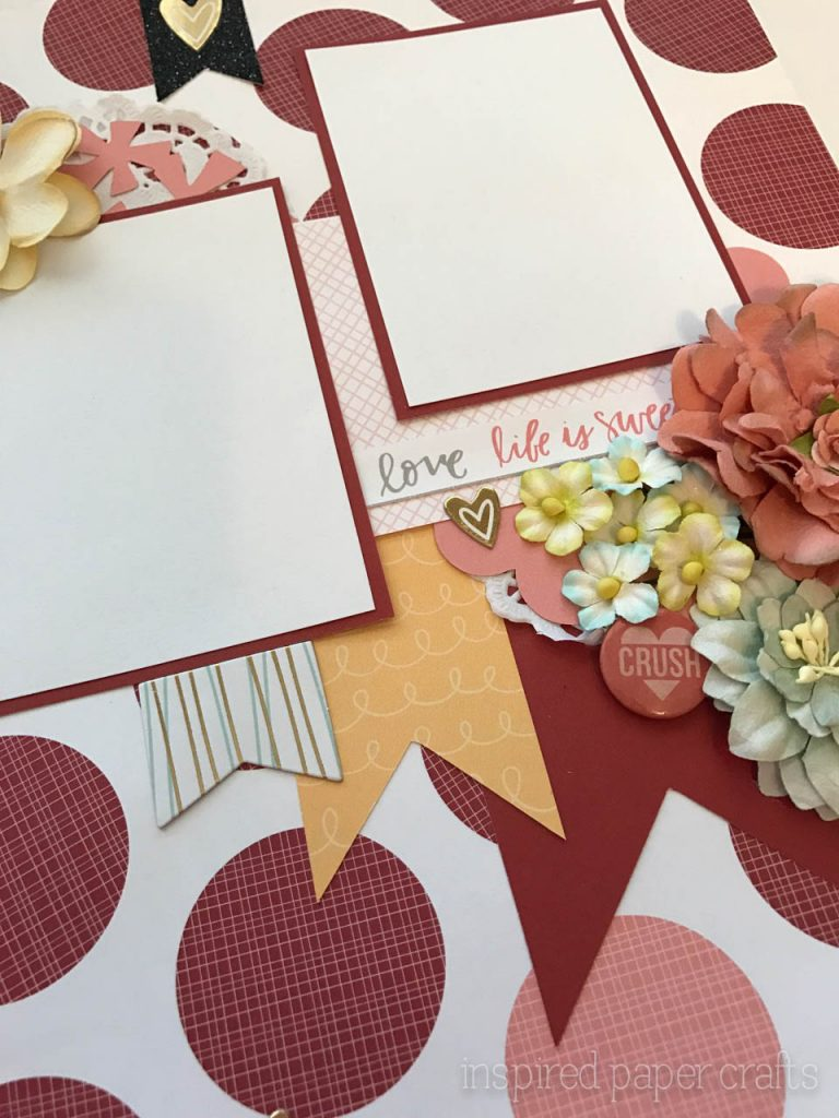 #CTMH Sugar Rush- XOXO Layout - Inspired Paper Crafts-4