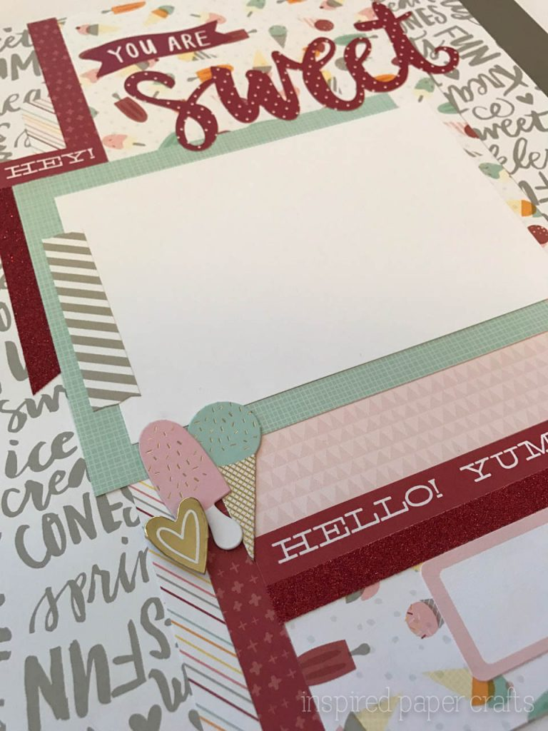 #CTMH Sugar Rush- You are Sweet Layout - Inspired Paper Crafts-7