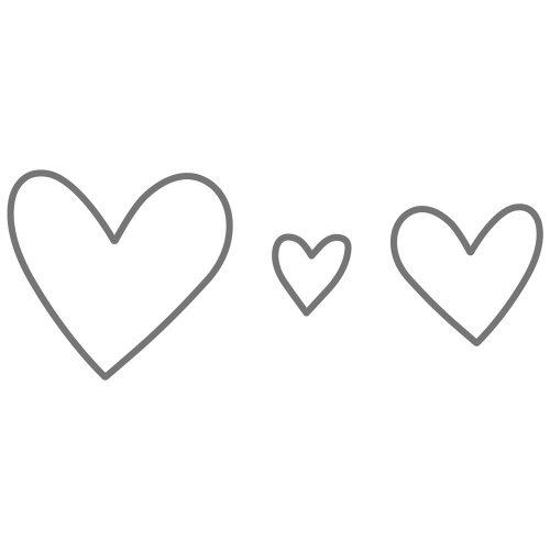Thin Cuts—Hearts (Z3260)