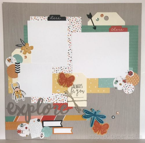 #CTMH Dreamin Big - Explore Scrapbook Layout - Inspired Paper Crafts - Watermarked