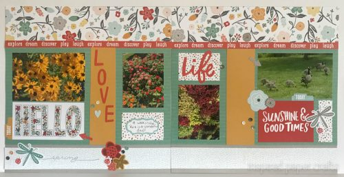 #CTMH Dreamin Big - Love Life Scrapbook Layout - Inspired Paper Crafts - Watermarked