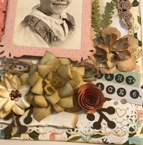 #CTMH Hello Lovely - Cherish - Heritage Scrapbook Layout - Inspired Paper Crafts - Watermarked-2