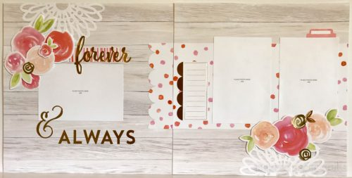 #CTMHCutAbove -Forever & Always Scrapbook Layout Inspired Paper Crafts - Watermarked