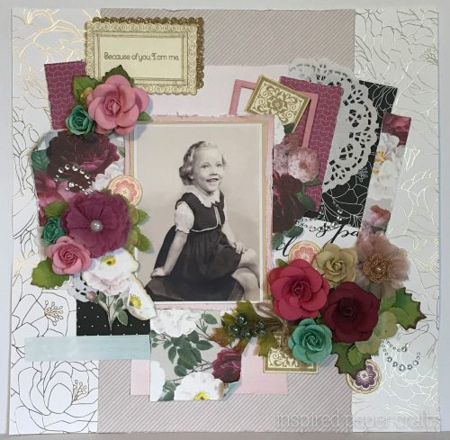 #CTMHLiveBeautifully - Because of you.... Scrapbook Layout Inspired Paper Crafts - Watermarked