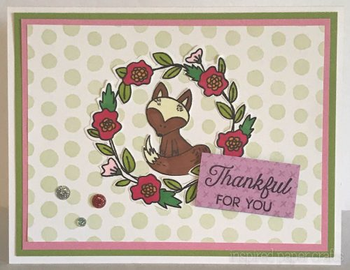 #CTMHStampofthemonth - Thankful For You Card Inspired Paper Crafts - Watermarked