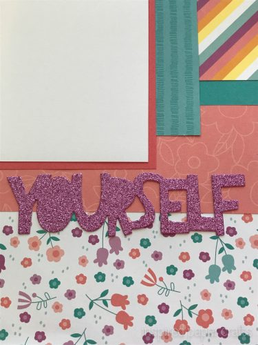 #CTMHlittledreamer - Always Be Yourself Scrapbook Layout Inspired Paper Crafts - Watermarked-5