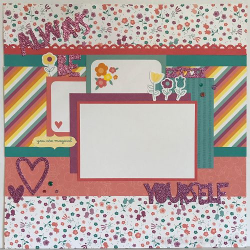 #CTMHlittledreamer - Always Be Yourself Scrapbook Layout Inspired Paper Crafts - Watermarked