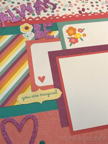 #CTMHlittledreamer - Always Be Yourself Scrapbook Layout Inspired Paper Crafts - Watermarked-6