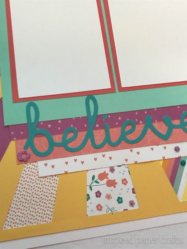 #CTMHlittledreamer - Believe Scrapbook Layout Inspired Paper Crafts - Watermarked-5