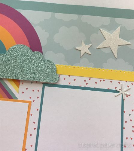 #CTMHlittledreamer - Shine Scrapbook Layout Inspired Paper Crafts - Watermarked-3