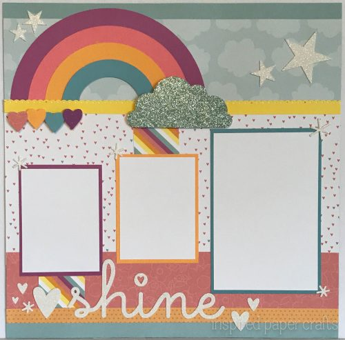 #CTMHlittledreamer - Shine Scrapbook Layout Inspired Paper Crafts - Watermarked