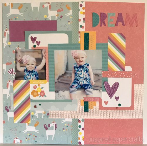 #CTMHLittleDreamer - Girl Themed Layout - Inspired Paper Crafts - Watermarked