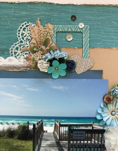 #CTMHNoWorries - Beach Themed Layout - Inspired Paper Crafts - Watermarked-3