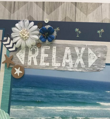 #CTMHNoWorries - Beach Themed Layout - Inspired Paper Crafts - Watermarked-4