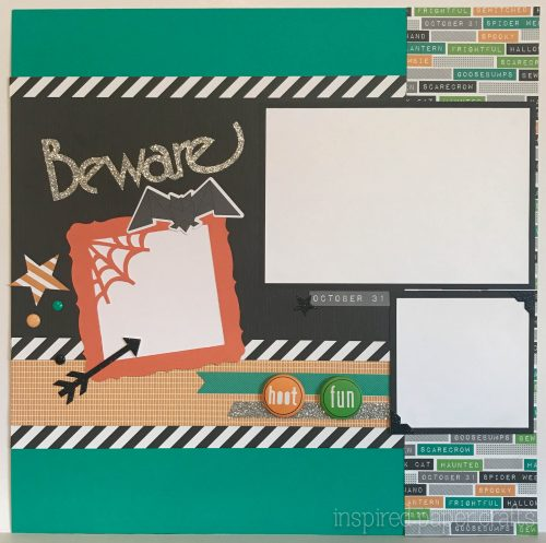 #CTMHcats&bats - Beware - Halloween themed Layout - Inspired Paper Crafts - Watermarked-2