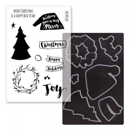 Beary Christmas Cardmaking Stamp + Thin Cuts Z4046