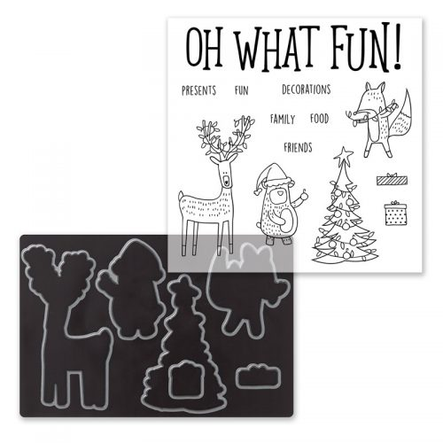 Beary Christmas Scrapbooking Stamp + Thin Cuts (Z4047)