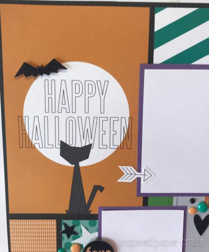#CTMHcats&bats - Halloween themed layouts -Inspired Paper Crafts - Watermarked