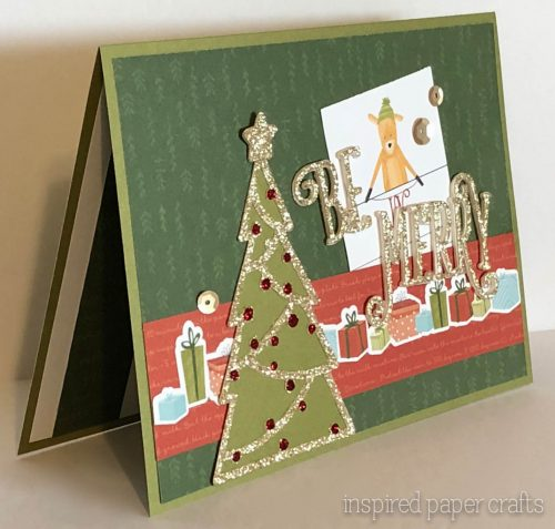 #CTMHBearyChristmas - Be Merry - Christmas Card -Inspired Paper Crafts - Watermarked