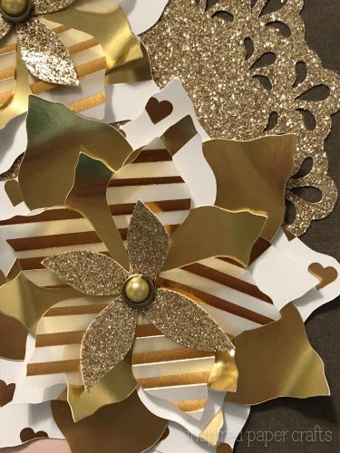 #CTMHSilver&Gold - Gold Poinsettias- Christmas Card -Inspired Paper Crafts - Watermarked-10