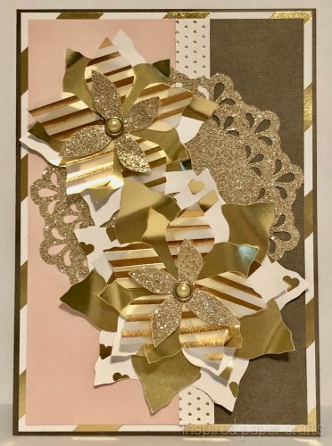 #CTMHSilver&Gold - Gold Poinsettias- Christmas Card -Inspired Paper Crafts - Watermarked