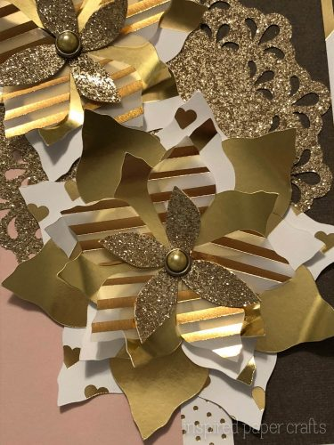 #CTMHSilver&Gold - Gold Poinsettias- Christmas Card -Inspired Paper Crafts - Watermarked-5
