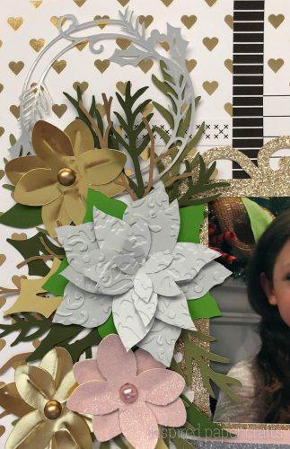 #CTMHSilver&Gold - Merry Christmas - Christmas Scrapbook Layout-Inspired Paper Crafts - Watermarked-2