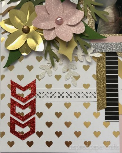 #CTMHSilver&Gold - Merry Christmas - Christmas Scrapbook Layout-Inspired Paper Crafts - Watermarked-3