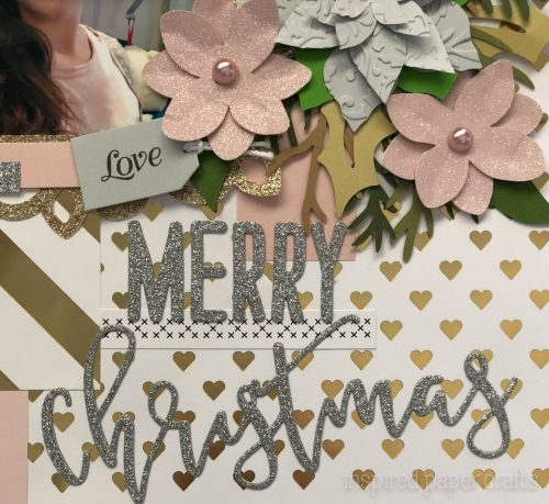 #CTMHSilver&Gold - Merry Christmas - Christmas Scrapbook Layout-Inspired Paper Crafts - Watermarked-7